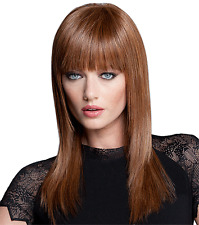 TABATHA COFFEY LACE FRONT SLEEK & STRAIGHT WIG LUXHAIR HOW~LIGHT AUBURN $250