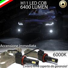 KIT H11 LED FENDINEBBIA AUDI A4 B8 CANBUS 6400 LUMEN 6000K NO ERROR XENON BIANCO