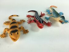 Vintage 1997 rubber lizard toy amphibian/reptile Skink lot collectable