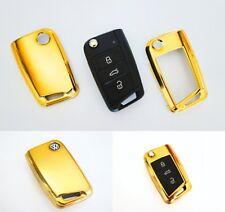 Für VW Golf 7 VII Gold Schlüssel Cover Key Cover Schlüssel Funk Fernbedienung