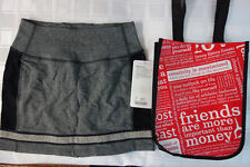 NWT LULULEMON REFRESH SKIRT - Stretch French Terry - Grey Black - SOLD OUT -- 4