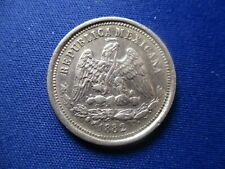 MEXICO MEXICO CITY 25 CENTAVOS 1882 Mo M