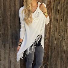 Women Winter Loose Long Sleeve Cotton Casual Blouse T Shirt Fashion Tunic Top US