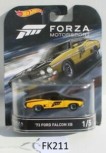 Hot wheels Forza Motorsport 73 Ford Falcon XB Yellow 1/5 FNQHotwheels FK211