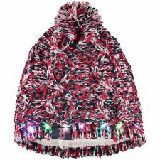 Boston Red Sox Chunky Knit Light Up Logo Beanie Winter Hat Toque Pom Women's