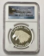 2013 Canada Bald Eagle $20 E/R NGC PF70 Ultra Cameo