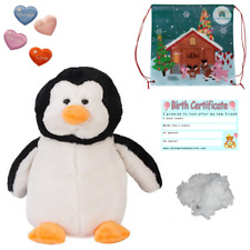 """PENGUIN - BUILD A TEDDY BEAR MAKING KIT FOR GIFT/PARTY - 16"""" / 40cm - NO SEW"""