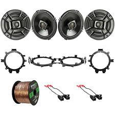 """4x Polk 6.5"""" 300W 2 Way Car/Marine ATV Speakers w/ Harnesses + Brackets, Wire"""