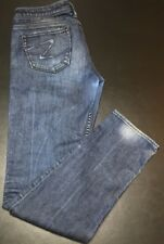 B16 SILVER JEANS * Womens PIONEER Blue Jeans Size 29 x 33