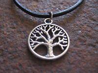 Amulett Kette Herren Halskette Leder schwarz braun Surfer Damen Lebensbaum Baum