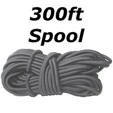 "300ft 3/8"" Black Shock Cord Marine Grade Bungee Heavy Duty Tie Down Stretch Rope"