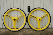 "Spengle Giro Paire 28"" 700 C Carbon jaune bleu trispoke Shimano"