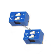 10PCS blue Toggle Switch 2P 2.54mm pitch DIP Switch Code switch high quatity
