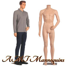 Male mannequin 6Ft, removable head and arms, skin tone full body manikin-Ym8-F
