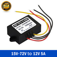 Waterproof DC Converter 15-72V to 12V Step Down  Power Supply Module 5A