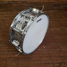 """Pearl 14"""" Vintage Steel Snare Drum Made In Japan USED! RKPLS240421"""