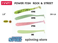 4 CONF. POWER FISH HART  COLORI MISTI SILICONICO mm 46 ROCK FISHING SPIN