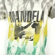Nelson Mandela T Shirt Vintage 90s 1990 Freedom Tour Smash Apartheid USA Large