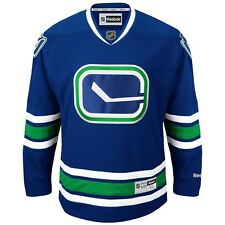 60dd951eb NHL Official Authentic Reebok Premier Team Hockey Jersey Collection Men s Vancouver  Canucks Blue 2xl
