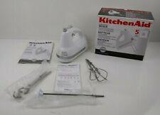 White KitchenAid KHM5AP Ultra Power Hand Mixer (Box Not Included)