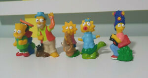 THE SIMPSONS FIGURINES TOYS CAMPING SET 90S CHARACTER TOYS