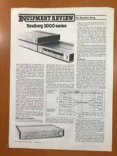 ORIGINAL TANDBERG 3000 SERIES EQUIPMENT REVIEW BY GORDON KING BROCHURE D259