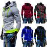 Mens Zip Up Hoodie Jacket Sweatshirt Hooded Casual Coat Tops Slim Jumper Outwear