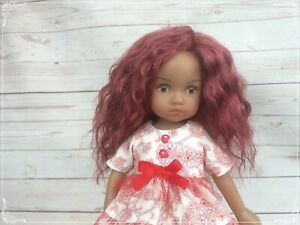 Mohair wig for doll 10""
