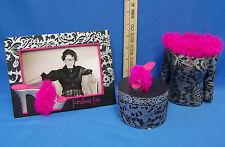 2005 Coynes & Company Ladies Black Silver & Pink Trinket Box Bust & Frame Lot 3