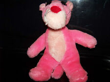 "1987 Pink Panther Plush Made By The 24K Company 10"" x 8.5"""