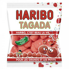 Haribo Tagada Fraise French Strawberry Gummy Candy 300g