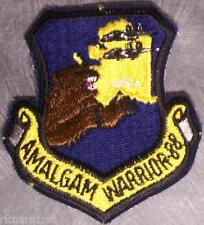Embroidered Military Patch USAF Amalgam Warrior Alaska Airlift Support NEW