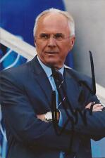 LEICESTER: SVEN GORAN ERIKSSON SIGNED 6x4 ACTION PHOTO+COA
