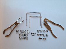 ENDODONTIC RUBBER DAM INSTRUMENTS,20 CLAMPS,IVORY FORCEPS,IVORY PUNCH,2 FRAMES