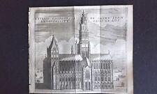 Cathédrale Evangeliste St Jean à BOIS le DUC GRAVURE DELICES des PAYS BAS 1711