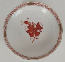 VINTAGE 1959 HEREND HUNGARY RED CHINESE BOUQUET SMALL BOWL USED USSR FLEET