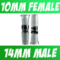 Scientific Lab Glass Adapter Fitting 10mm Female to 14mm Male
