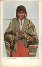 Beautiful Native Indian Woman Maiden WANITA REDBIRD c1905 Postcard