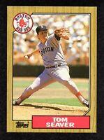 """1987 Topps #425 Tom Seaver Boston Red Sox HOF Baseball Card  """"mrp""""  NM/MT+"""
