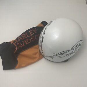 Harley-Davidson® Women's Small Destination Half Helmet, Pearl White 98223-10VW