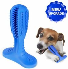 US stock-Dog Toothbrush Chew Toy oral Care Brush Stick Natural Rubber pet FDA