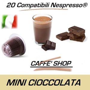 "20 Capsules Compatible Nespresso® Caffè Shop Mélange ""Mini Ciok - Mini Chocolat"""