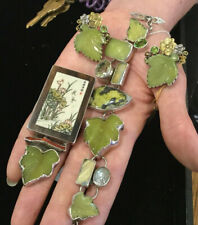 GORGEOUS NEW W TAGS, AMY KAHN RUSSELL STERLING, JADE, CITRINE & PERIDOT EARRINGS