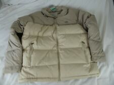 MENS NIKE CREAM COAT WITH DUCK DOWN & FEATHERS & HOOD - SIZE XL - NEW + TAGS