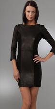 New Diane von Furstenberg DVF Arita black Jersey/ Leather Dress size 8US 44 $595