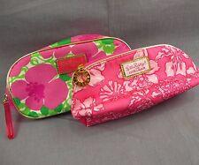 Lilly Pulitzer for Estee Lauder Makeup Bag Travel Case Lot of 2 Floral Cases