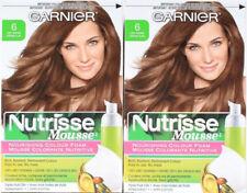 2 Garnier 6 Light Brown Nutrisse Nourishing Colour Foam Permanent Hair Color
