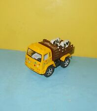 Kinsfun Yellow Cattle Cows Delivery Truck Pull Back n Go Diecast Plastic Toy