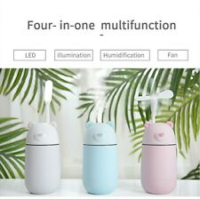 Air Humidifier Ultrasonic with LED Light Mist Aromatherapy Vase Pola Bear PINK