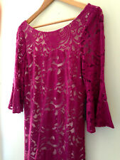 NWT Vince Camuto Designer Pink Gorgeous Lace Bell Sleeve Cocktail Dress 10 $148